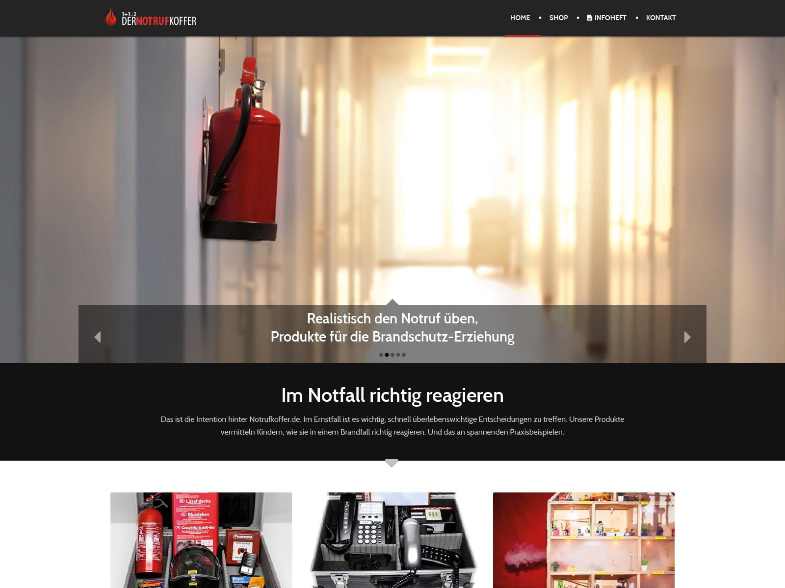 Website Notrufkoffer