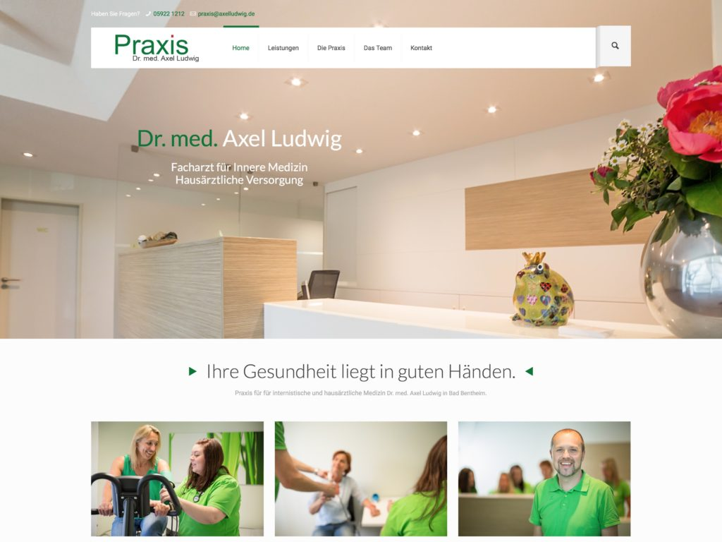 Website Praxis Dr. med. Axel Ludwig